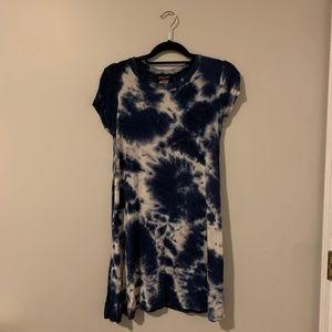 Navy Tie Dye T Shirt Dress